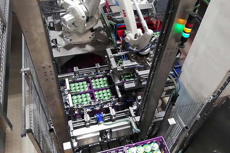 coman - soluzioni - handling - pallettizzazione casse plastica